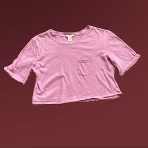 Bozzolo Purple Crop T-Shirt